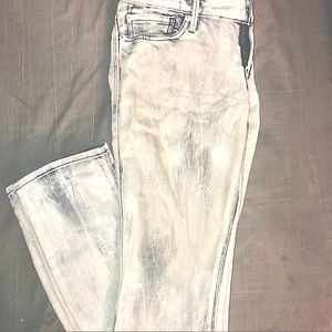 Express Bleach Washed Skinny Jeans